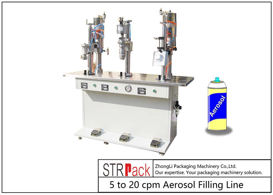 Puoliautomaattinen aerosolitäyttö
