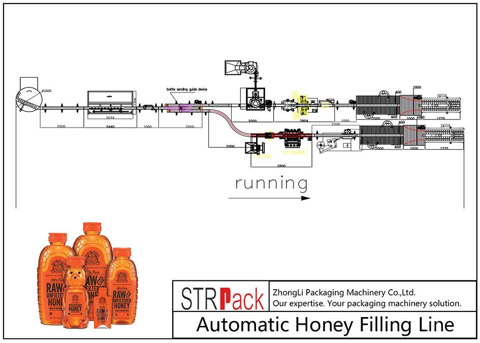 Automaattinen hunajan täyttölinja