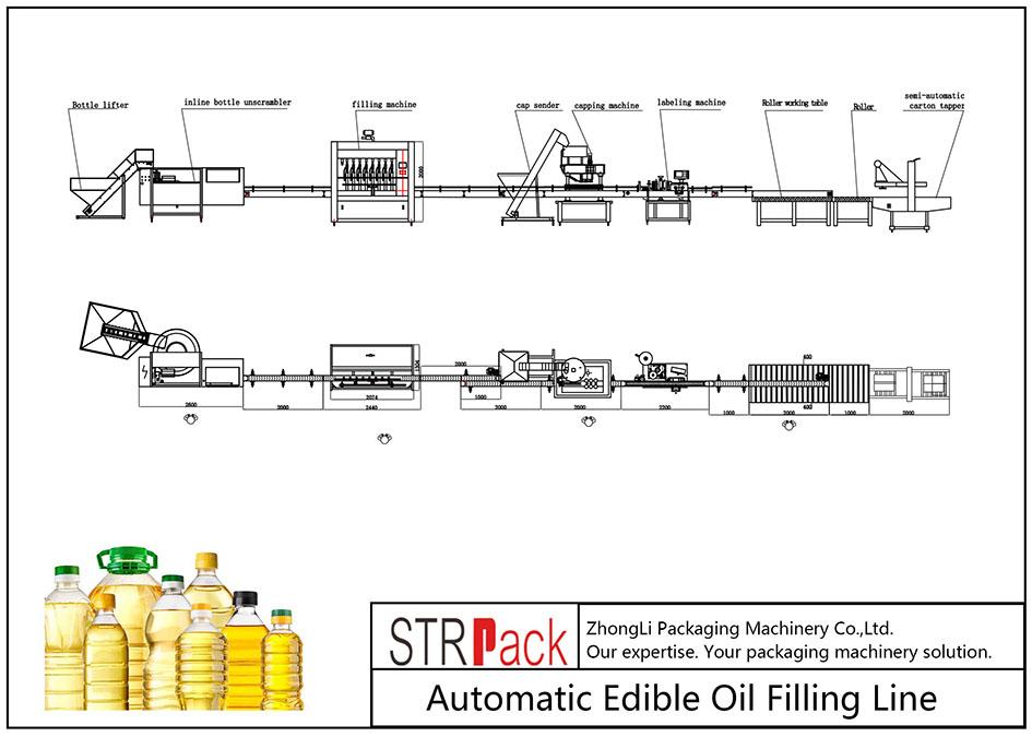 Automaattinen syötävän öljyn täyttölinja