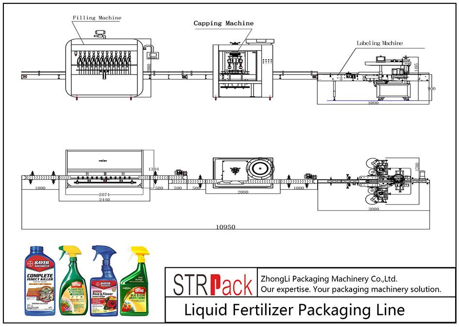 Automaattinen nestemäisten lannoitteiden pakkauslinja
