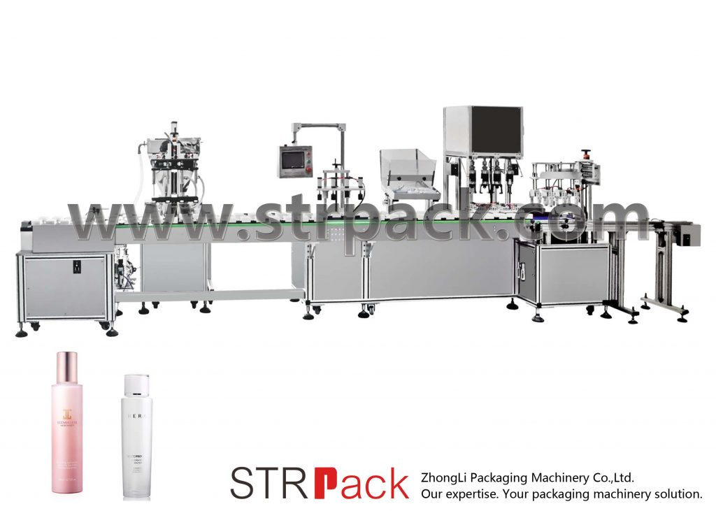 Automaattinen vesiemulsion täyttö- ja korkkikone